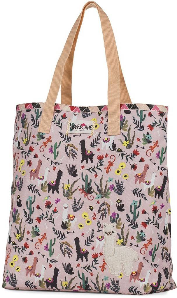 Shopper Awesome Girls Alpaca 38x33x15 cm