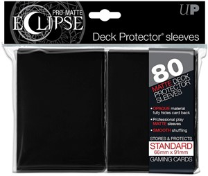 Sleeves Eclipse Pro Matte - Zwart (66x91mm)