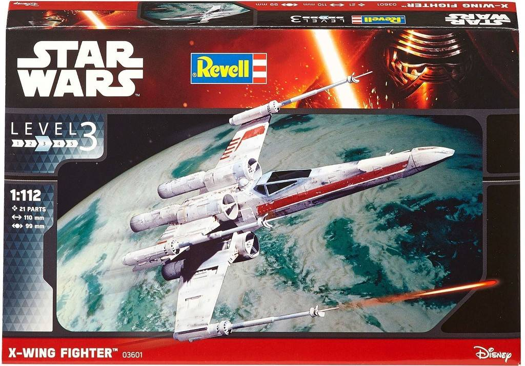 X-wing Fighter Revell: schaal 1:112