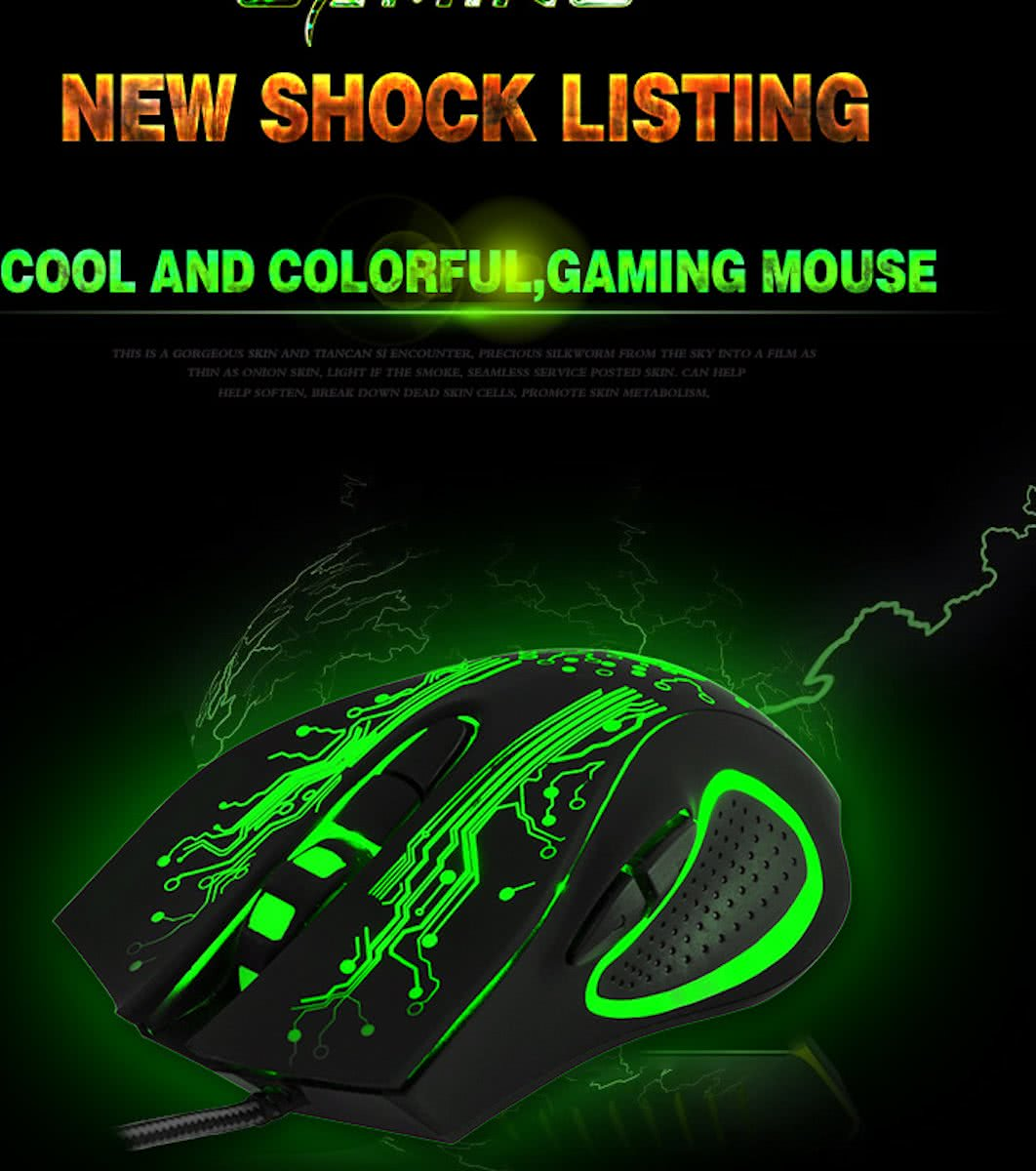 Gaming USB Optische light color mouse