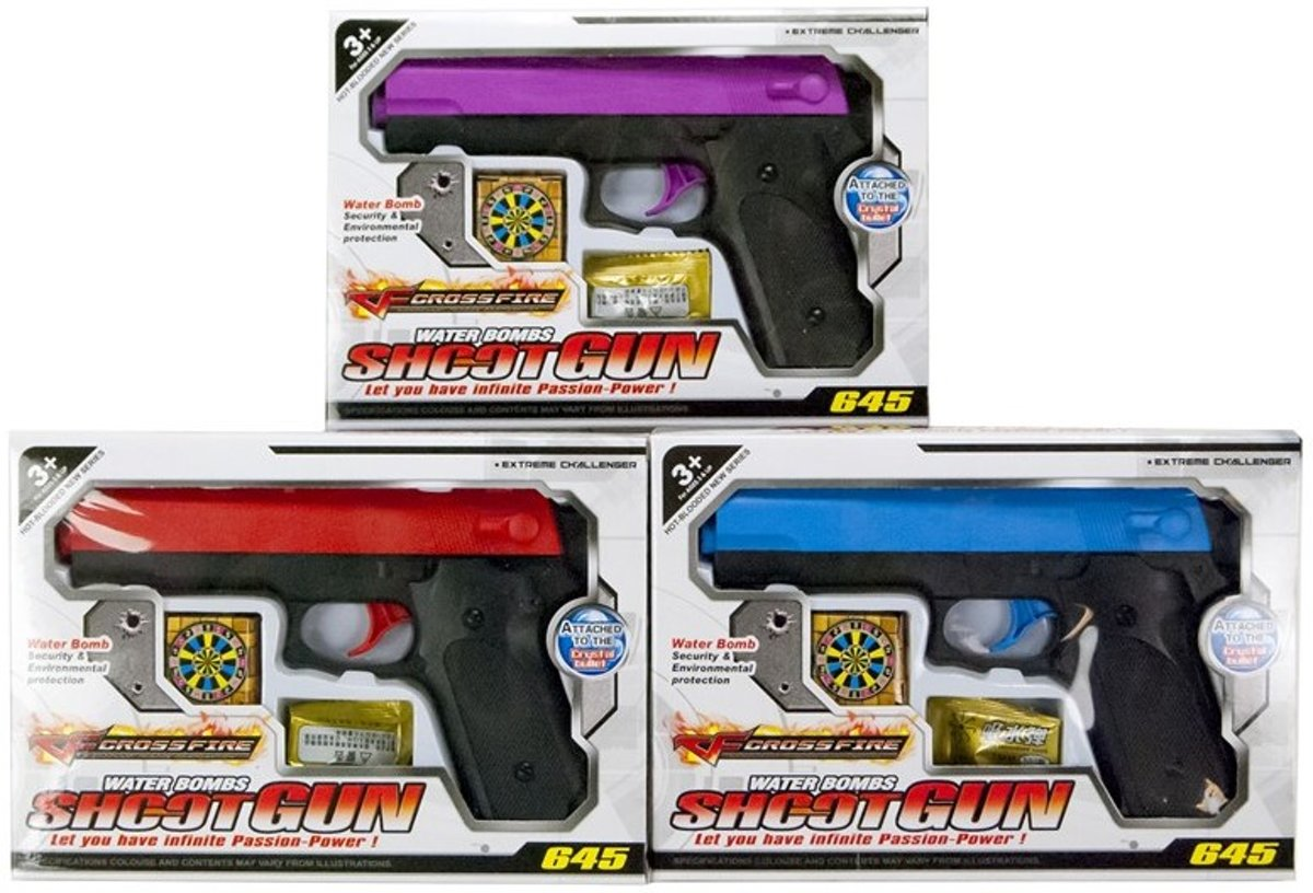 Pistool shoot gun + waterkogels