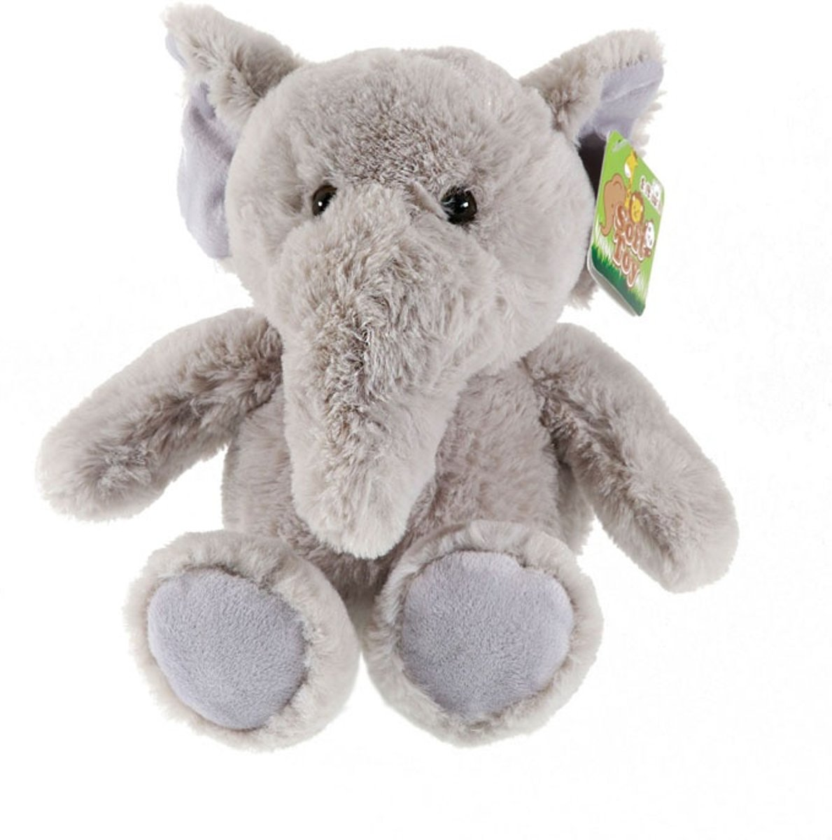 Soft Touch Knuffelolifant Zittend Grijs 21 Cm