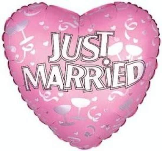 Just Married 45cm Hart Folie