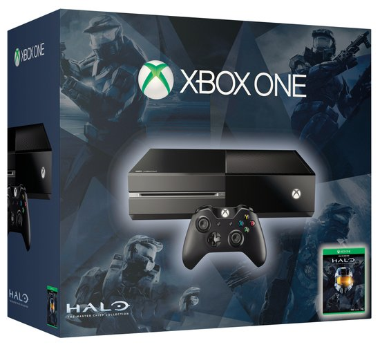 Xbox One 500GB Console + 1 Wireless Controller + Halo: The Master Chief Collection - Zwart Xbox One bundel - Xbox One
