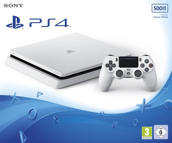 PS4 500GB D Chassis White