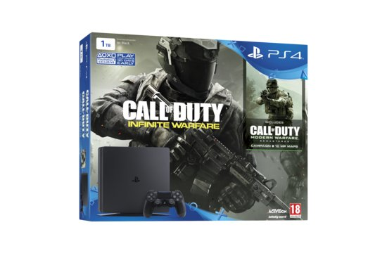 Playstation 4 Slim 1TB Black Call of Duty Infinite Warfare Legacy Edition