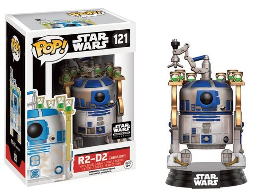 STAR WARS - Bobble Head POP N° 121 - R2-D2 Jabbas Skiff LIMITED