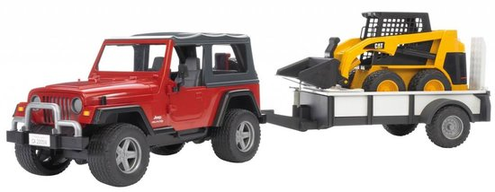 Bruder Jeep Wrangler Unlimited met Trailer