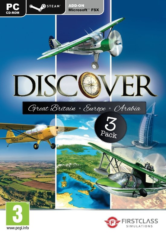 Discover Series (Discover Great Britain & Europe & Arabia) (Steam Edition) (FS X Add-On) -