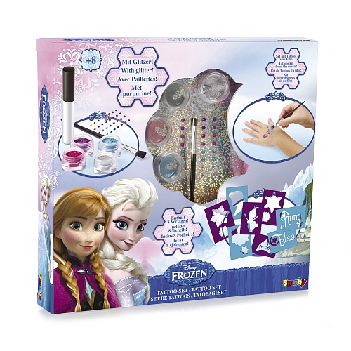 Disney frozen - tattoo set met glitter