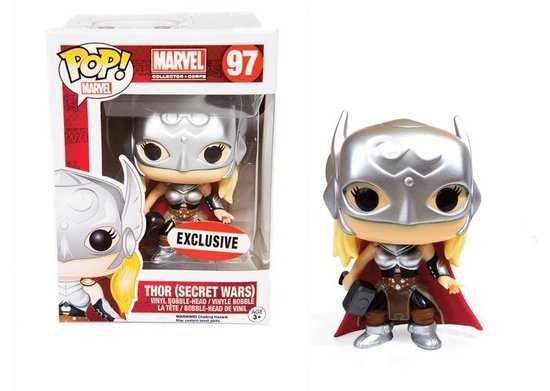 MARVEL - Bobble Head POP N° 97 - Lady Thor Secret Wars LIMITED