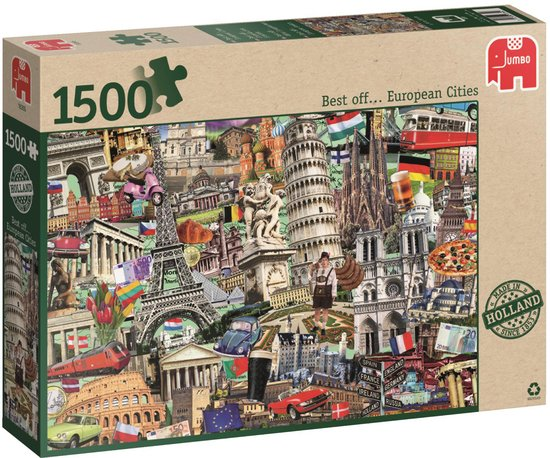 Best off… European City - Puzzel - 1500 stukjes