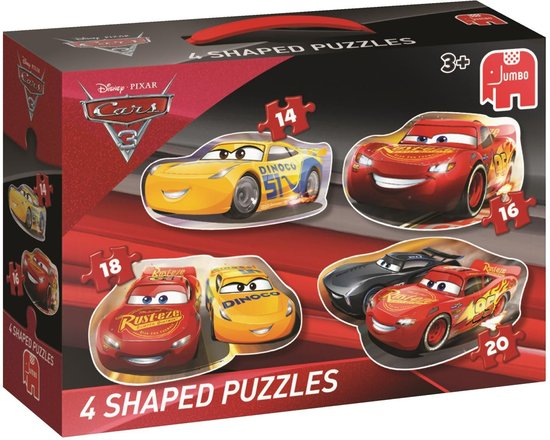 Cars3 4in1 Shaped Puzzle
