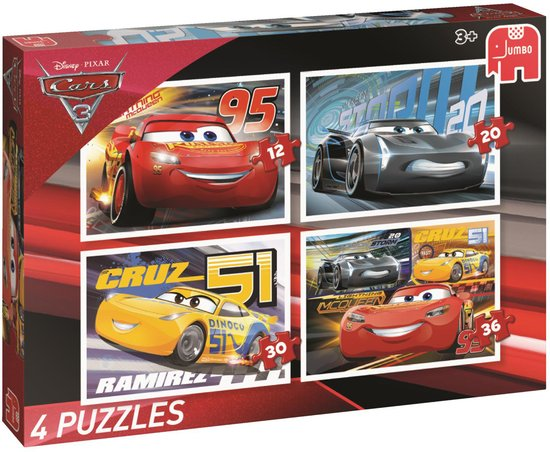Disney Cars3 4in1 Puzzle