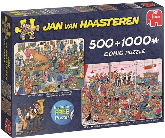 Puzzel Jan van Haasteren The Reception 500/1000 stukjes