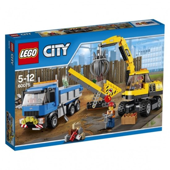 LEGO City Graafmachine en Truck 60075