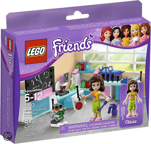 3933 LEGO Friends Olivia's Laboratorium