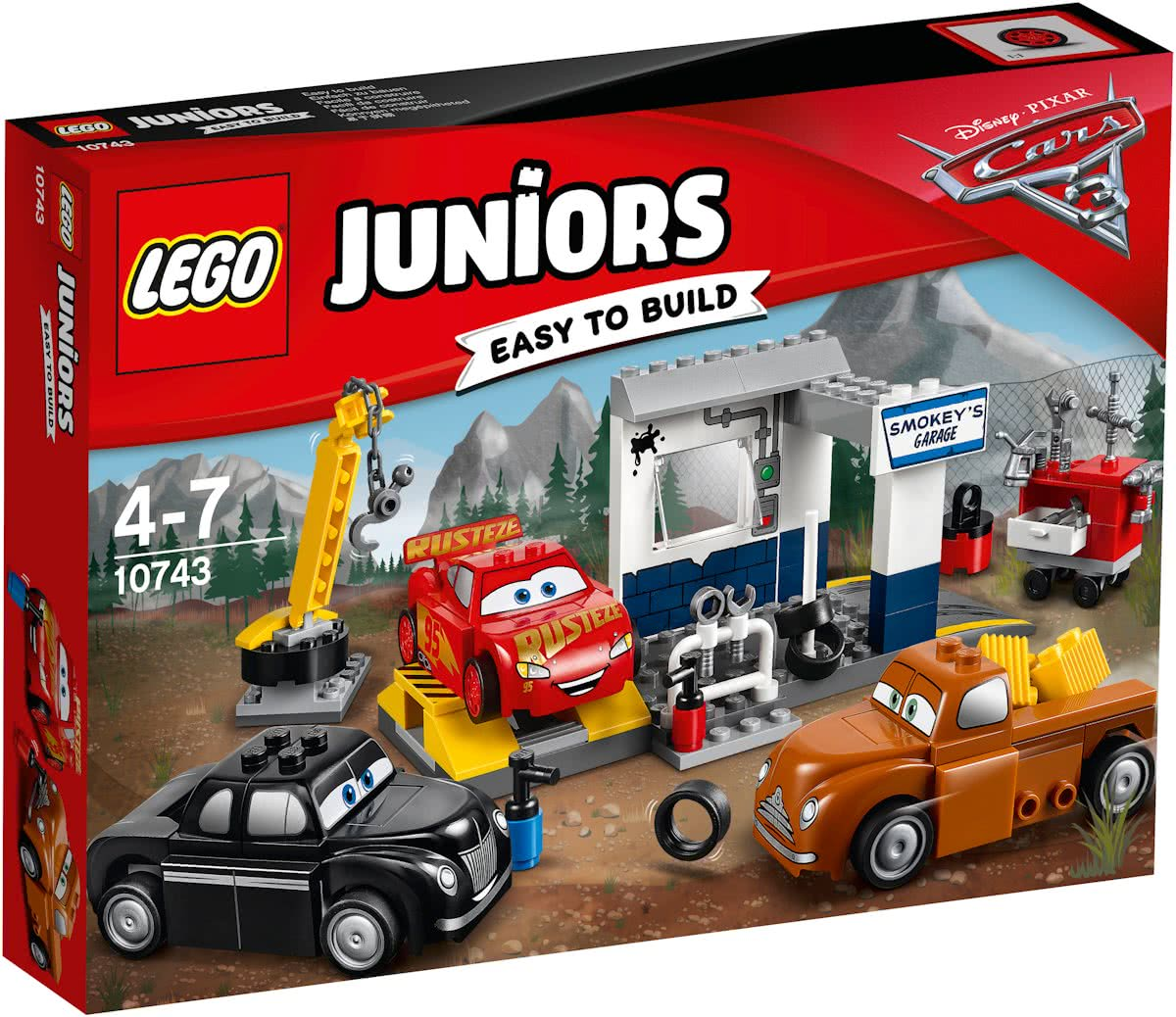 10743 LEGO Juniors Cars 3 Smokeys Garage