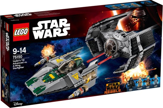 LEGO Star Wars Darth Vaders TIE Advanced vs. A-Win Starfighter - 75150