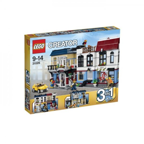 Lego Creator Motorzaak en cafe 31026
