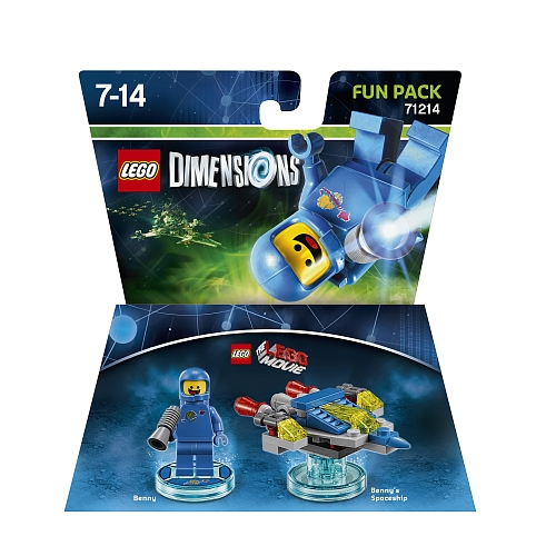 Lego dimensions - fun pack, lego movie benny 71214