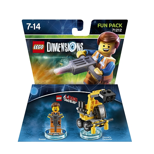 Lego dimensions - fun pack, lego movie emmet 71212