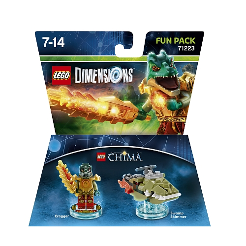 Lego dimensions - fun pack 14, chima cragger 71223