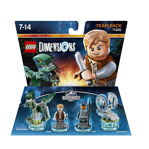 Lego dimensions - team pack 1, jurassic world 71205