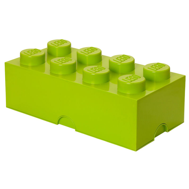 LEGO Opbergbox Brick 8 Lime
