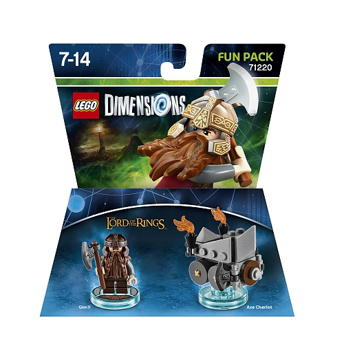 Lego dimensions - fun pack, lord of the rings gimli 71220