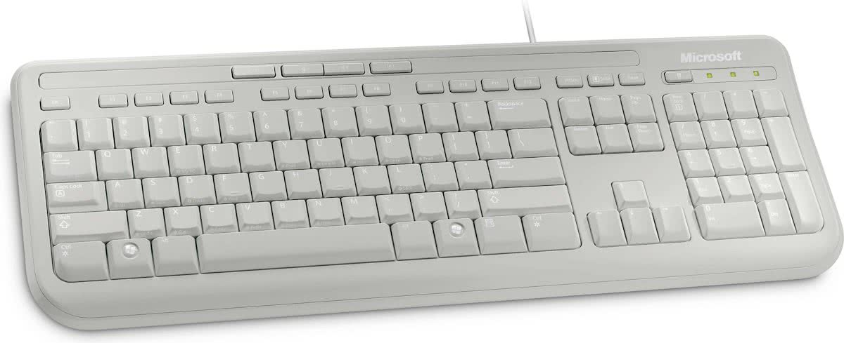 Microsoft Wired 600 - Toetsenbord - Qwerty - Wit