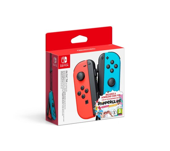 Joy-Con Controller Paar - Rood/Blauw + Snipperclip - Switch -