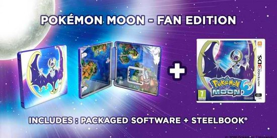 Moon Steelcase Edition - 2DS + 3DS -   3DS
