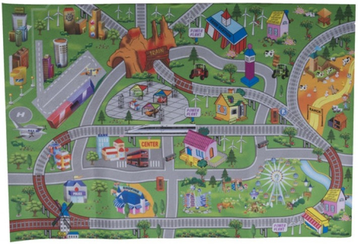 Eddy Toys speelkleed City 80 x 120 cm