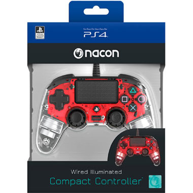 PS4 Official Wired LED Controller - rood