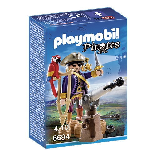 Playmobil - piratenkapitein eenoog - 6684