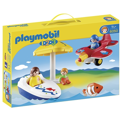 Playmobil 1.2.3 te land, ter zee en in de lucht - 6050