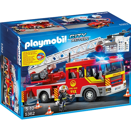 Playmobil City Action brandweer ladderwagen met licht en sirene - 5362