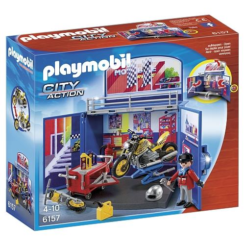 Playmobil City Action speelbox motorwerkplaats - 6157