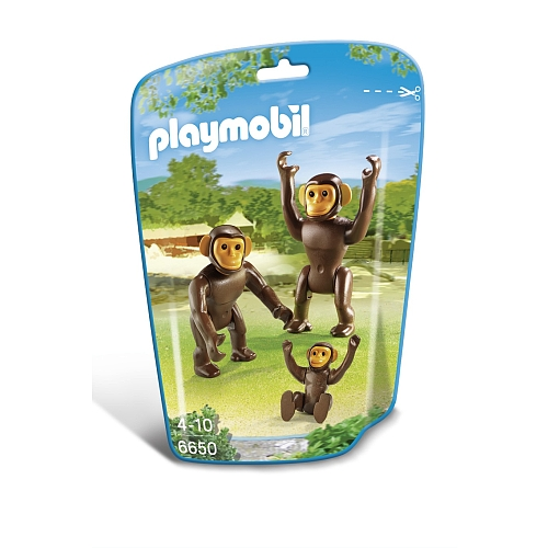 Playmobil City Life chimpansees met baby - 6650