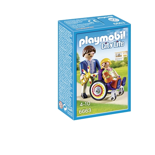 Playmobil City Life kind in rolstoel - 6663