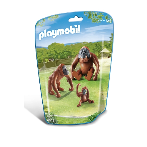 Playmobil City Life orang-oetans met kind - 6648