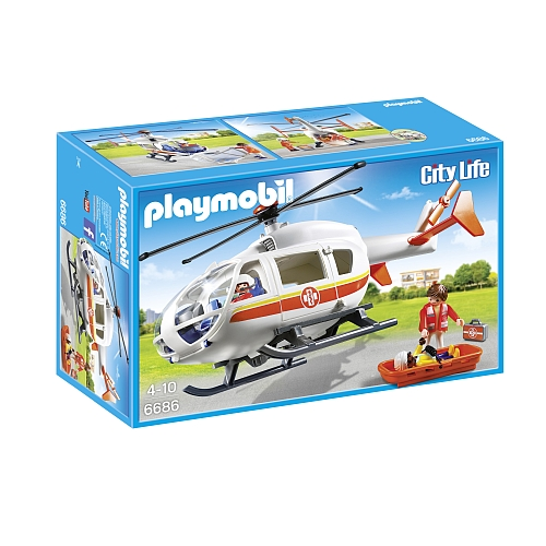Playmobil City Life traumahelikopter - 6686