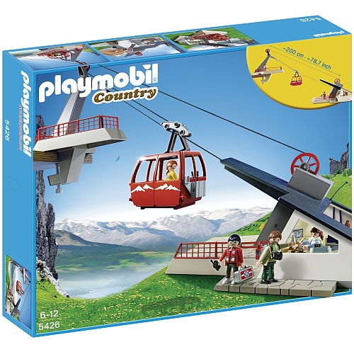 Playmobil Country bergstation met kabelbaan - 5426