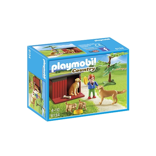 Playmobil Country golden retireer met welpen - 6134