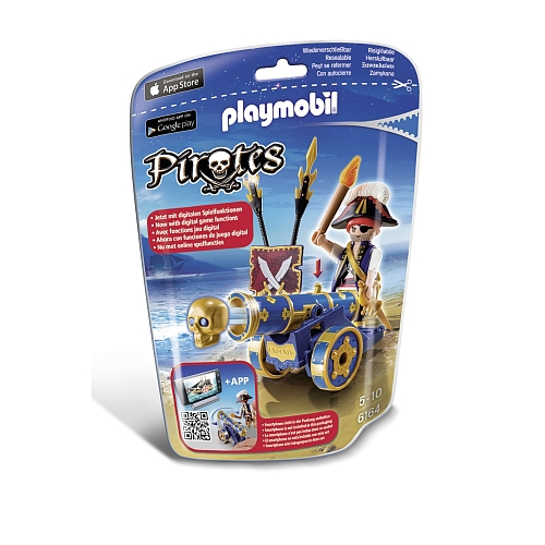 Playmobil Pirates officier met blauw kanon - 6164