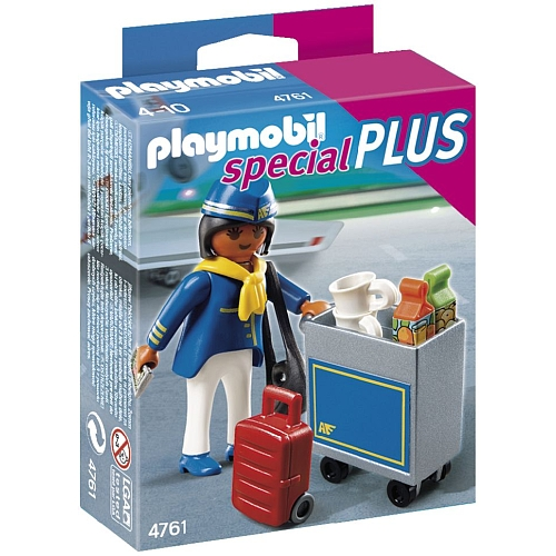 Playmobil Special Plus  stewardess met trolley - 4761