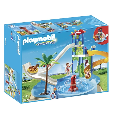 Playmobil Summer Fun aquapark met glijbanentoren - 6669