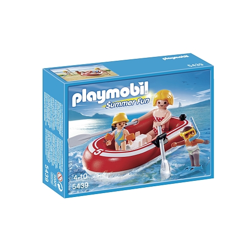 Playmobil Summer Fun toeristen met rubberboot - 5439