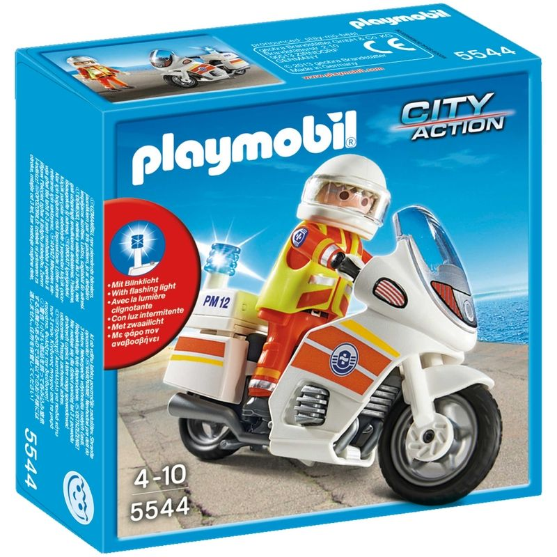 Playmobil City Action Ambulancier op motor met zwaailicht 5544